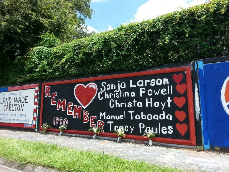 Memorial wall 34th street Gainesville Florida