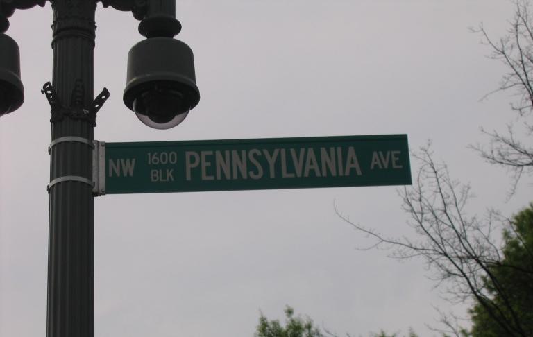 1600 Pennsylvania Ave Whitehouse street sign