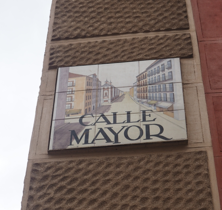 Calle Mayor street sign in Madrid city center