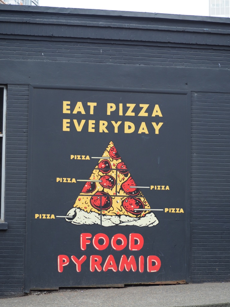 eat pizza everyday according to this food pyramid in portland oregon