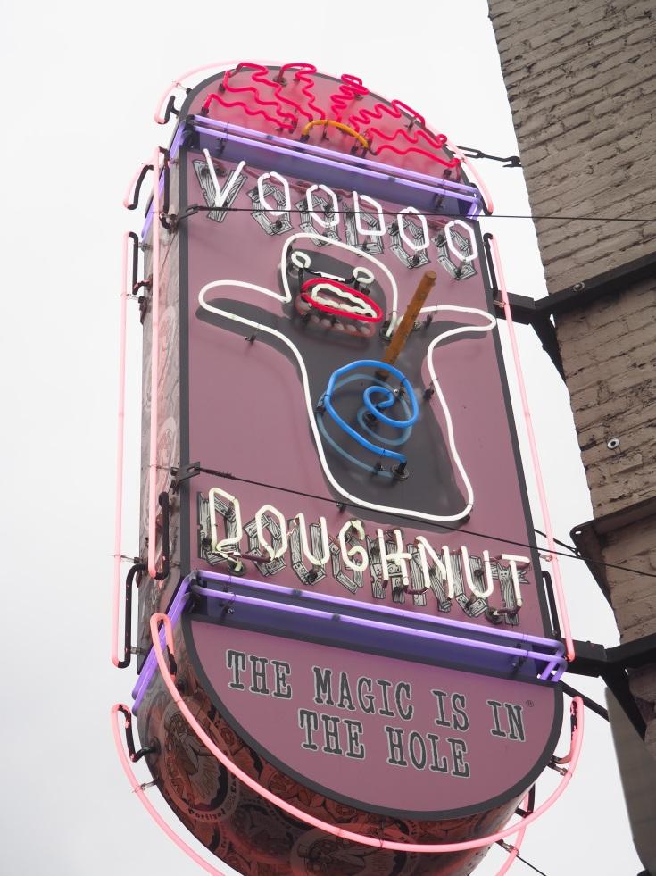 voodoo doughnut neon sign portland oregon