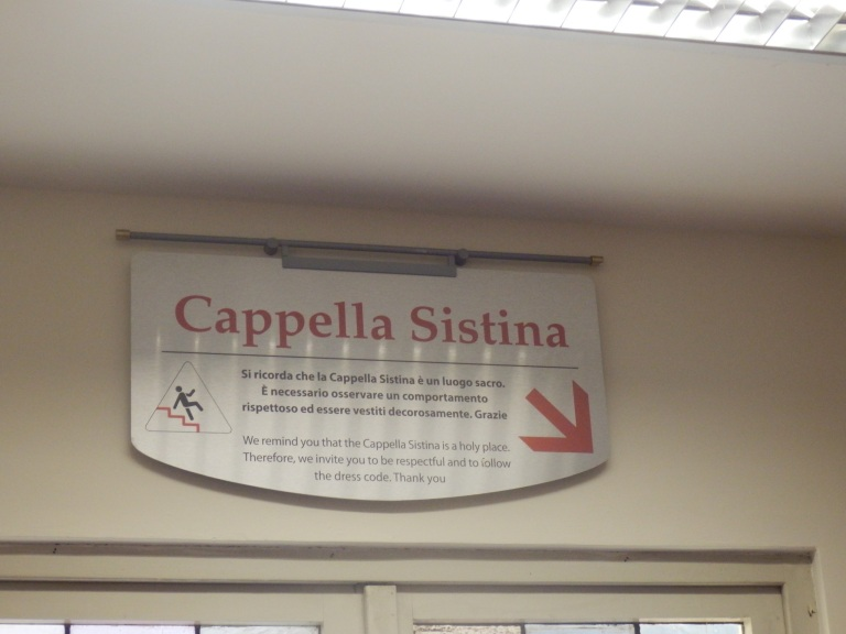 Sistine Chapel Cappella Sistina sign in the Vatican