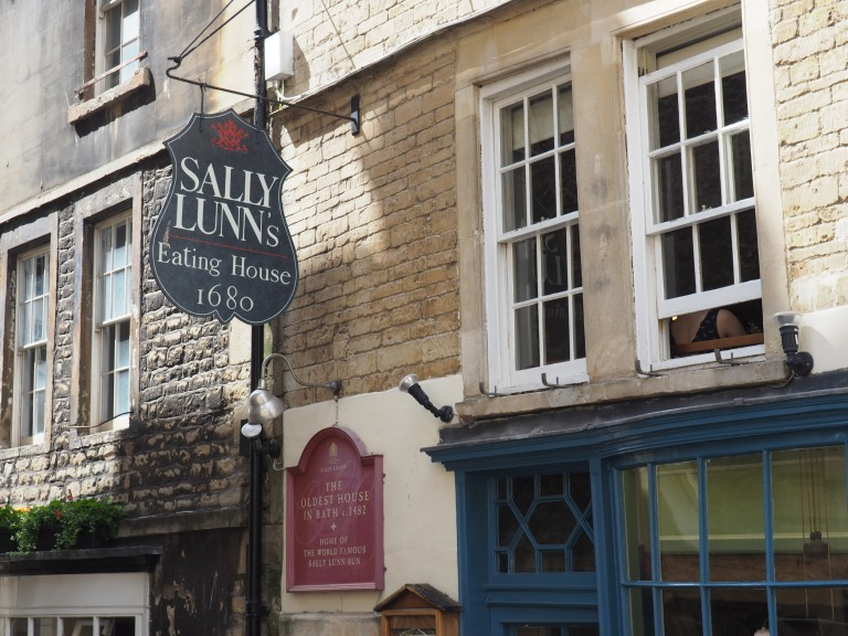 Sally Lunn's eating house oldest house in Bath England