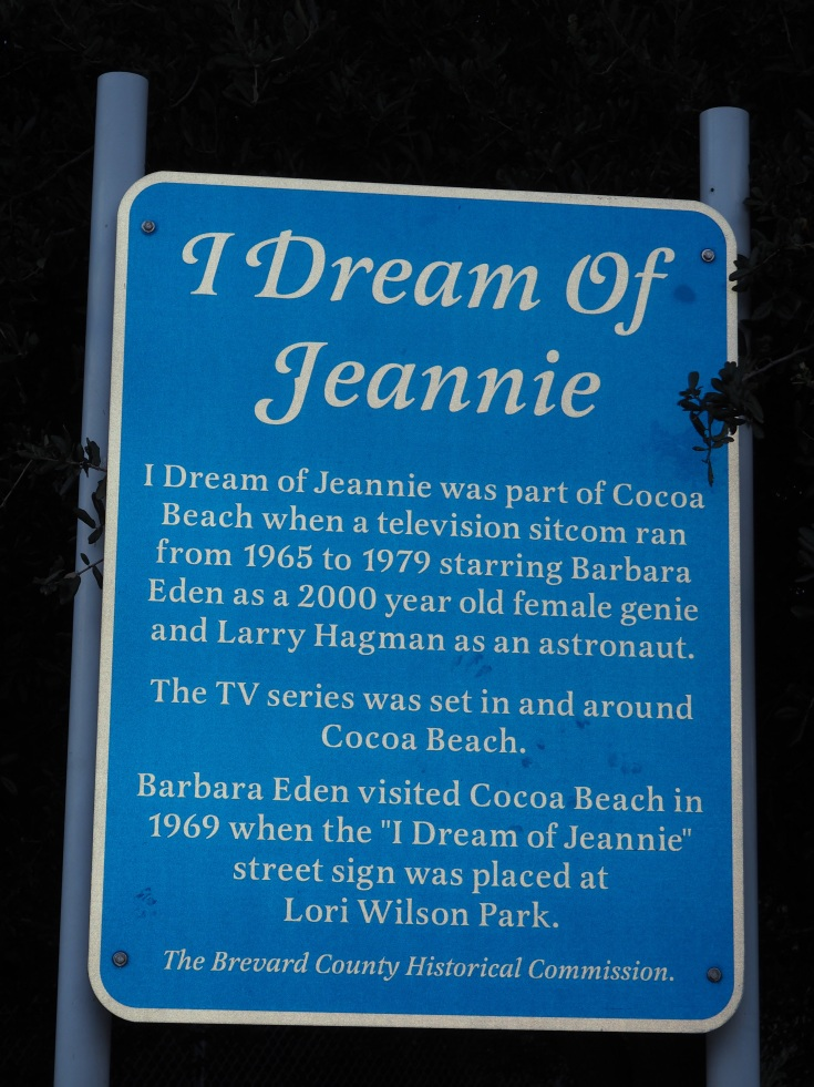 I dream of Jeannie sign in Cocoa Beach, Florida