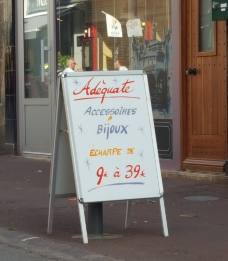 adequate accessories and jewelry sign bayeux normandy france