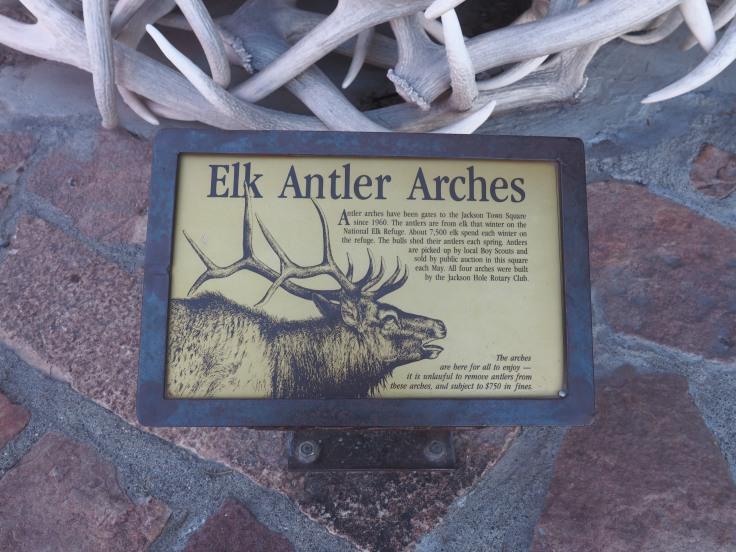 elk antler arches in jackson wyoming