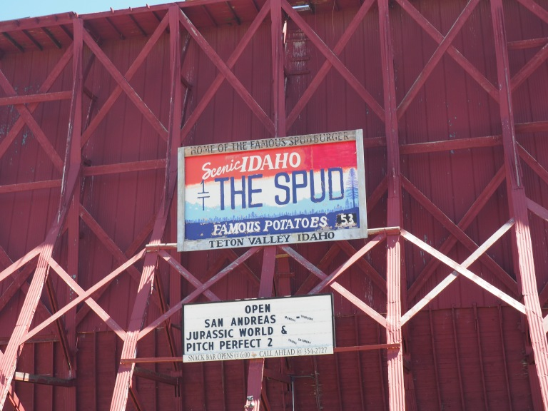 the Spud drive in theatre Driggs Idaho