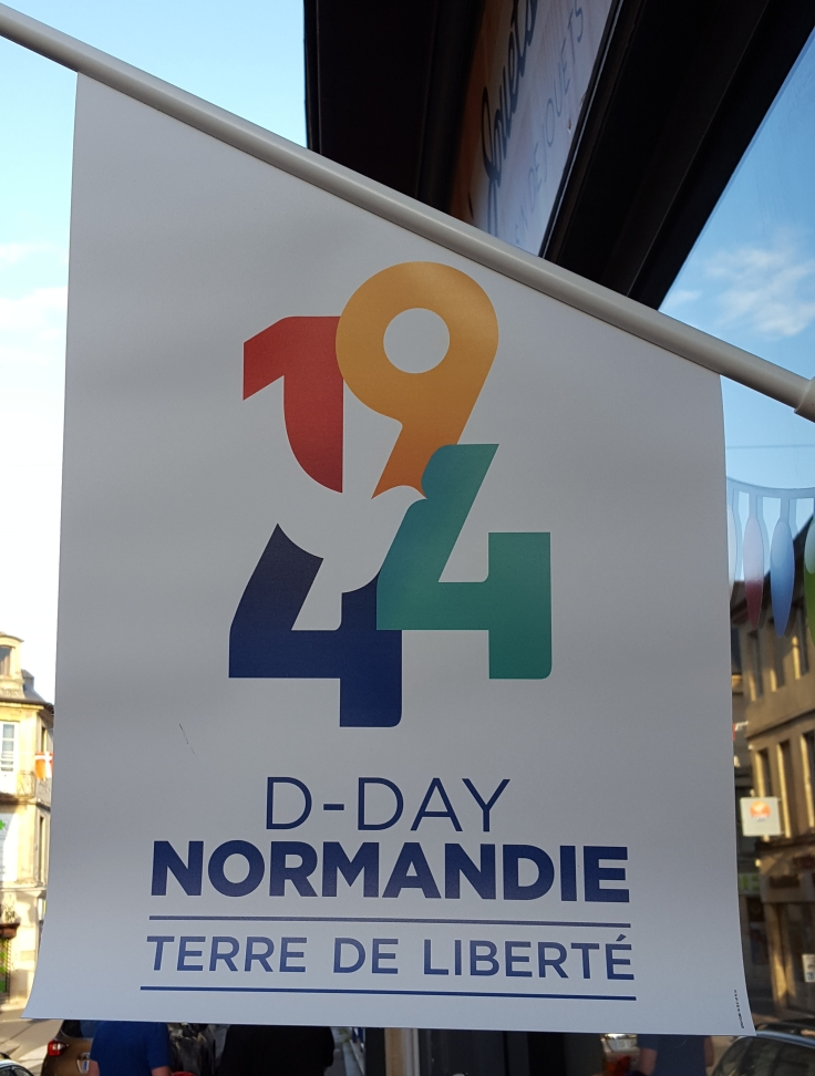 D-Day Anniversary Banner in Bayeux Normandy France