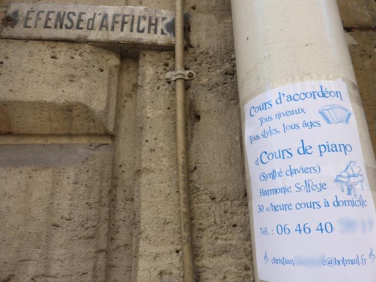 Défense d'afficher (do not post)
