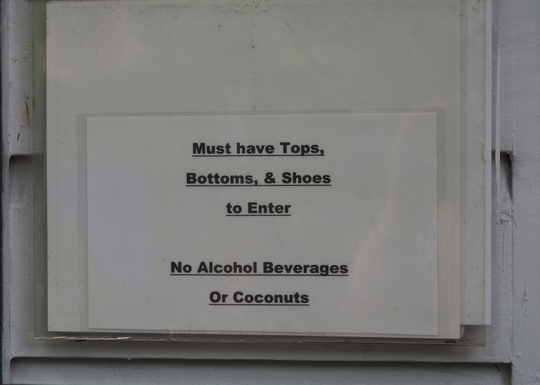 no coconuts outside Ernest Hemingway house in Key West
