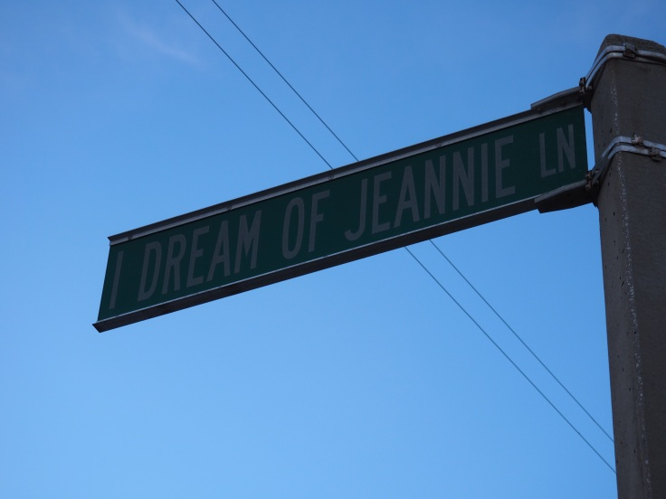 I Dream of Jeannie Lane street sign in Cocoa Beach Florida