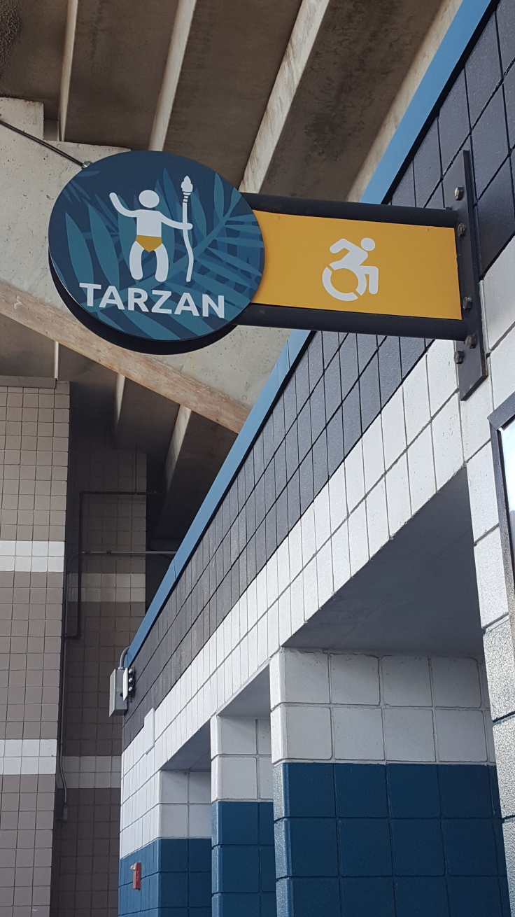 EverBank Field, Jacksonville Jaguars, tazan sign men's room