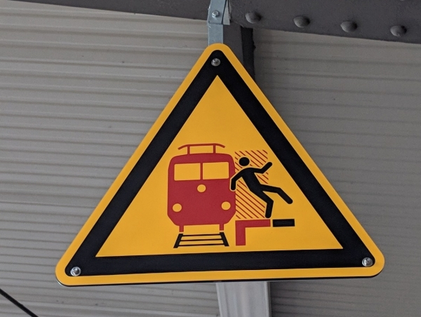 train station sign Mannheim Germany