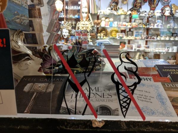 no bikinis or ice cream sign decal City Walls Dubrovnik